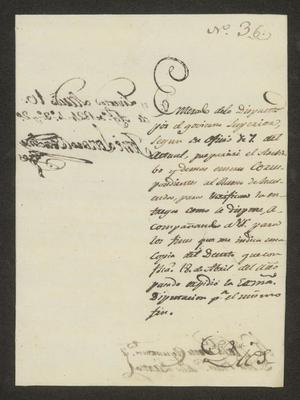 Primary view of object titled '[Letter from José Lázaro Benavides to the Laredo Alcalde, August 10, 1824]'.