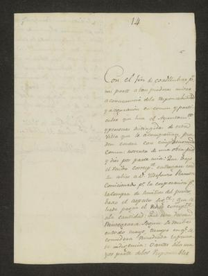 Primary view of object titled '[Statement from José María García to the Laredo Ayuntamiento]'.