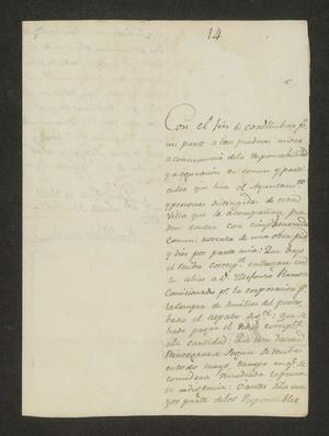Primary view of [Statement from José María García to the Laredo Ayuntamiento]