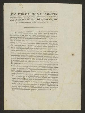 Primary view of object titled '[Printed Manifest from Francisco Vital Fernández]'.