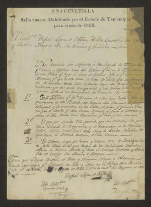 Primary view of object titled '[Ordinances from the Laredo Alcalde]'.