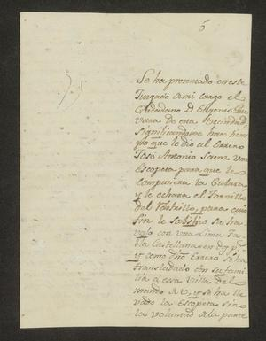 Primary view of [Letter from Manuel Salvador Sánchez to the Laredo Alcalde, April 1, 1823]