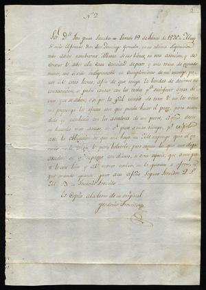 Primary view of [Documents Pertaining to the Estate of José Domingo González]