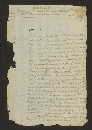 Primary view of [Statement from José María Tovar Concerning a Dispute]