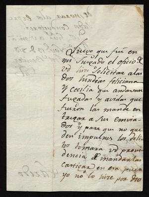 Primary view of object titled '[Letter from José Antonio Benites to José Francisco de la Garza, November 13, 1818]'.
