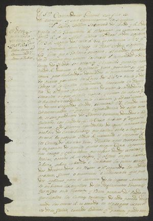 Primary view of object titled '[Documents from Francisco López]'.