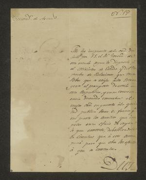 Primary view of object titled '[Letter from Nicasio Sánchez to the Commandante, February 8, 1826]'.