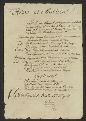 Primary view of [Announcement of Elected Legislatures]