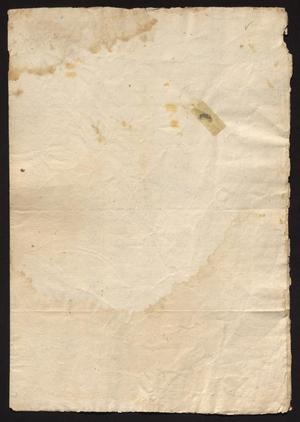 Primary view of [Last Will and Testament for José Domingo González]