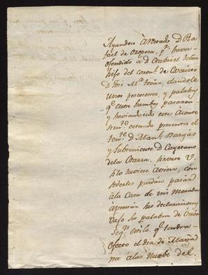 Primary view of [Correspondence between Tomás García and Juan José Llanos]