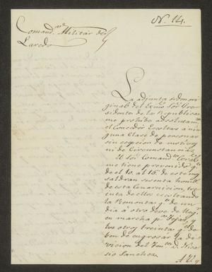 Primary view of object titled '[Letter from Vicente Arriola to the Laredo Alcalde, August 8, 1826]'.