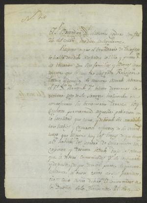 Primary view of object titled '[Two Messages to Captain Manuel García]'.
