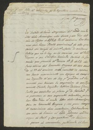 Primary view of object titled '[Statement from José Francisco de la Garza]'.