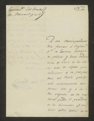 Primary view of object titled '[Letter from Lucas Fernández to the Laredo Alcalde, June 28, 1826]'.