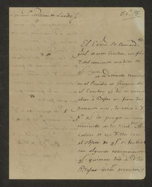 Primary view of [Letter from Nicasio Sánchez to the Laredo Alcalde, October 14, 1826]