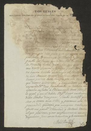 Primary view of object titled '[Document from Francisco Fernández]'.