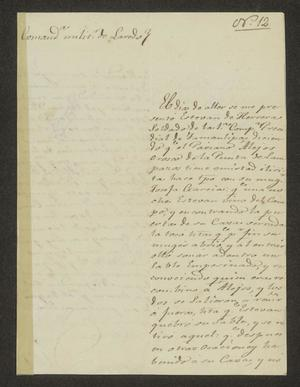 Primary view of object titled '[Letter from Manuel Nogaro to the Laredo Alcalde, November 26, 1826]'.