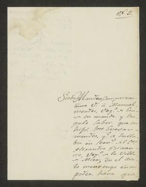 Primary view of object titled '[Letter from Juan José Martínez to the Laredo Alcalde, April 19, 1826]'.