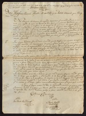 Primary view of object titled '[Regulations from Ildefonso Ramón]'.