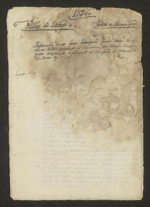 Primary view of object titled '[Proceedings of the case of José María Barrios]'.