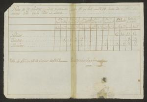 Primary view of object titled '[Census Report from José María García]'.