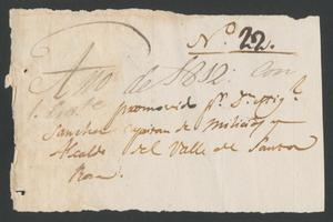 Primary view of object titled '[Two Messages to Governor Antonio Cordero y Bustamante]'.