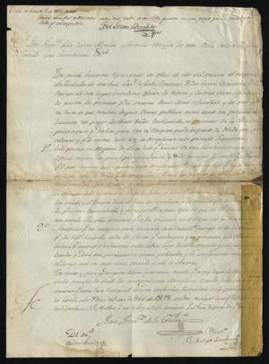Primary view of object titled '[Regulations from José Francisco de la Garza]'.