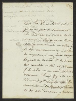 Primary view of [Letter from Joseph Froylan de Mier Voriega to José Tovar, July 18, 1815]
