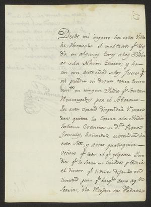 Primary view of object titled '[Message from Ramón Perea to José María Tovar, August 1, 1815]'.
