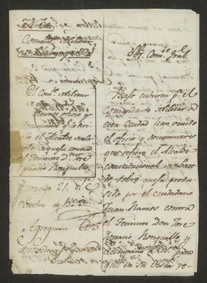 Primary view of object titled '[Correspondence Concerning Claims of Juan Ramos]'.