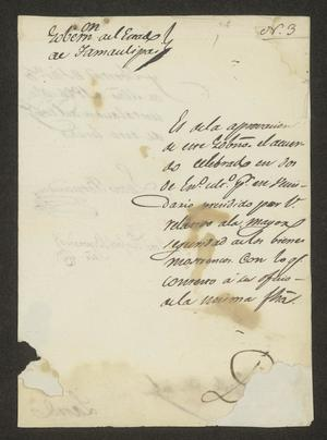 Primary view of object titled '[Letter from Lucas Fernández to the Laredo Alcalde, March 17, 1826]'.