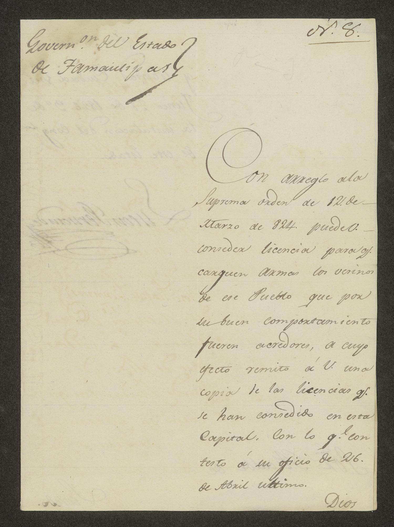 [Letter from Lucas Fernández to the Laredo Alcalde, June 28, 1826]                                                                                                      [Sequence #]: 1 of 3