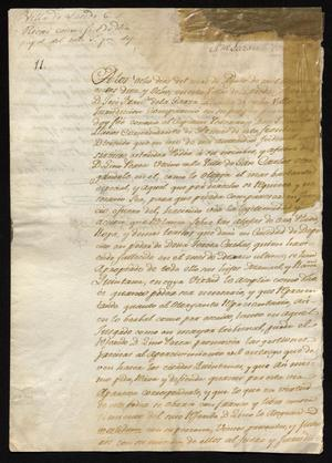 Primary view of object titled '[Letter from José Francisco de la Garza to a Laredo Alcalde, August 8, 1818]'.