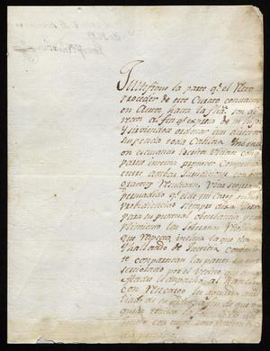 Primary view of object titled '[Letter from José María García to Ildefonso Ramón, September 6, 1819]'.