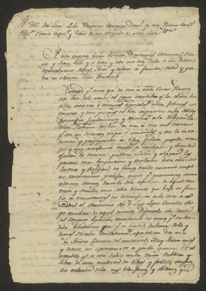 Primary view of object titled '[Copied Statement from José León Lobo Guerrero]'.