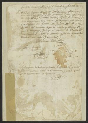 Primary view of [Legal Document from José Lázaro Báez Benavides]