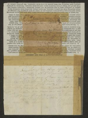 Primary view of [Promissory Note to Manuel García]