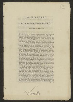 Primary view of [Manifest Against Spain from the President of Mexico]