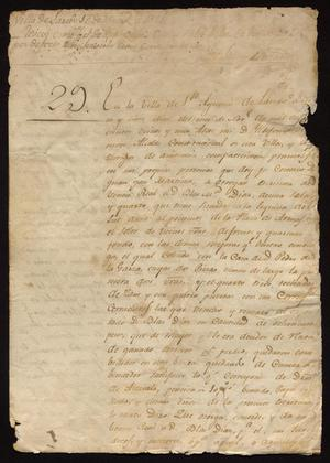 Primary view of object titled '[Statement from Ildefonso Ramón]'.