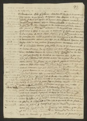 Primary view of object titled '[Copy of a Decree from the Minister of War]'.