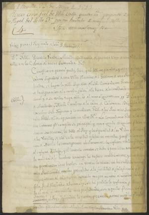 Primary view of object titled '[Copy of a Decree from José Dionisio de Uribe to José María Tovar]'.