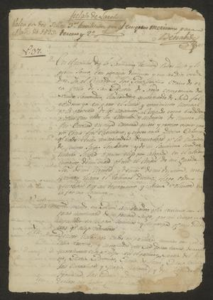 Primary view of object titled '[Last Will and Testament for José Antonio Treviño]'.