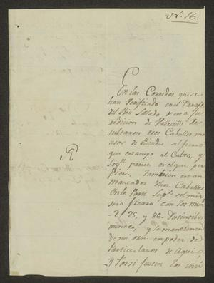Primary view of object titled '[Letter from Domingo Silvestre García to the Laredo Alcalde, September 3, 1826]'.