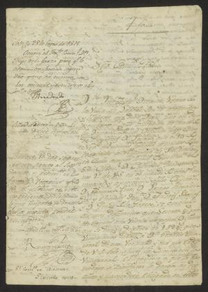 Primary view of object titled '[Communications Regarding a Debt Settlement]'.