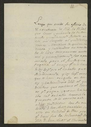 Primary view of object titled '[Letter from José Mateo Flores to the Mayor of Laredo, December 24, 1822]'.