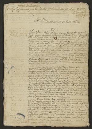 Primary view of object titled '[Proceedings of a Lawsuit]'.