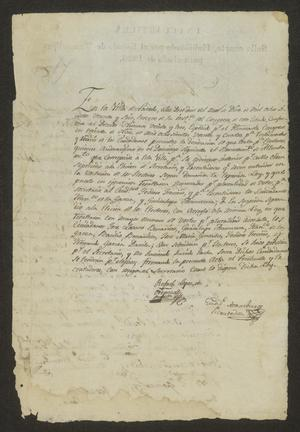 Primary view of object titled '[Eleven Documents from Rafael López de Oropeza]'.