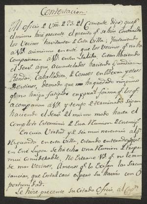 Primary view of [Correspondence between José Antonio Benavides and José Lázaro Benavides]