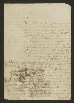 Primary view of object titled '[Proclamation from the Laredo Ayuntamiento]'.