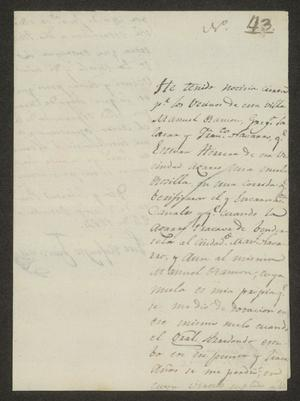 Primary view of object titled '[Letter from José Refugio Chavana to the Laredo Alcalde, October 24, 1824]'.